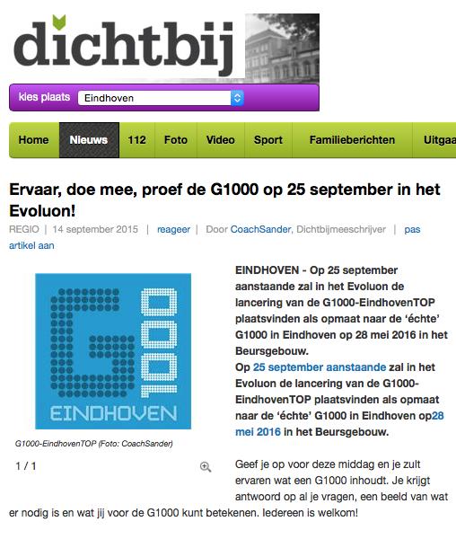 G1000EindhovenTOP op EindhovenDichtbij.nl