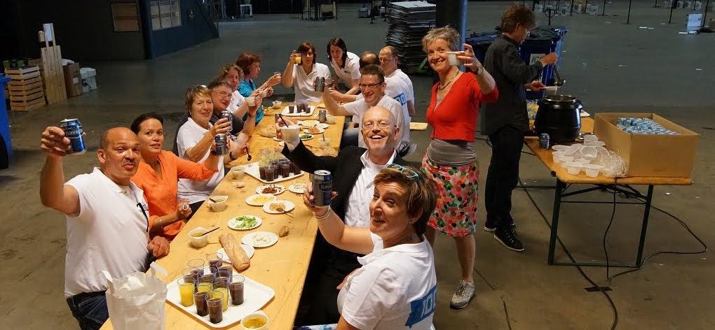 G1000 Eindhoven - Na het opruimen samen nog wat eten