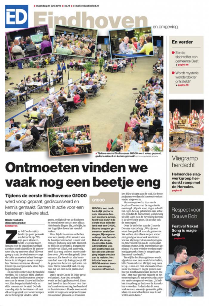 Eindhovens Dagblad maandag 27 juni 2016
