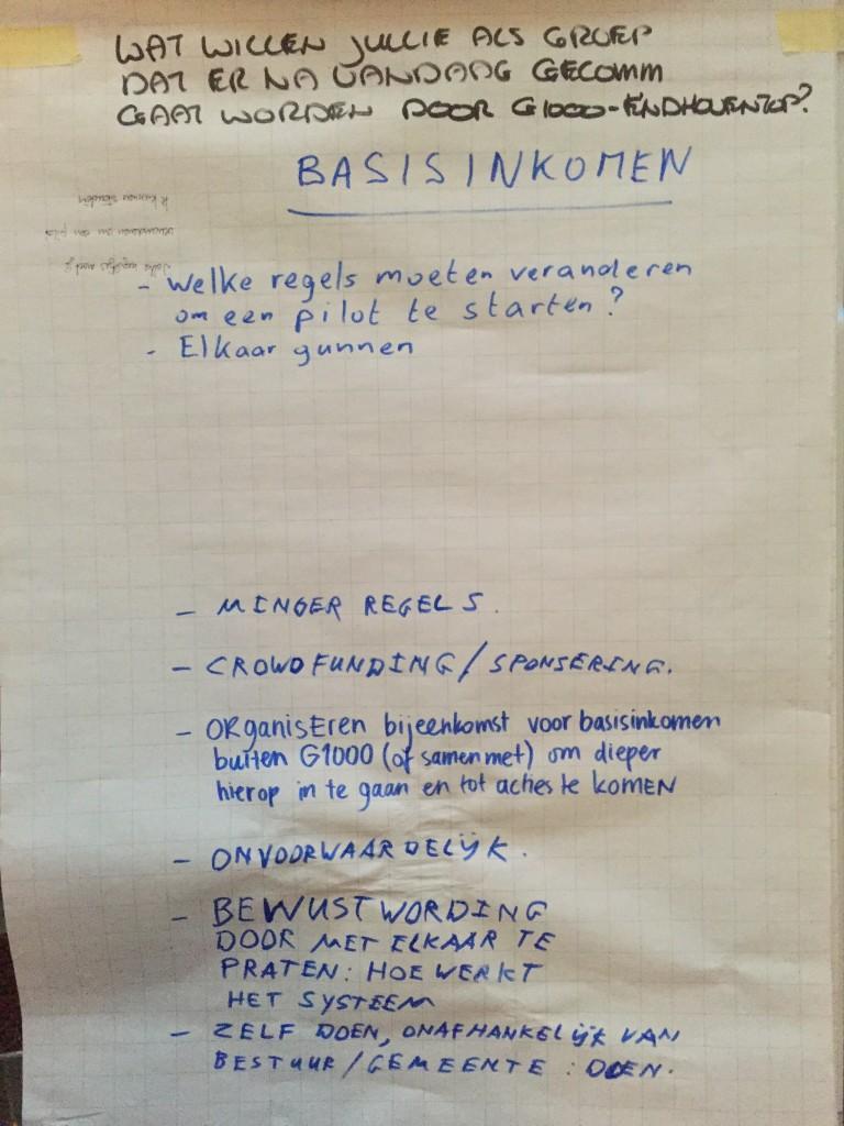 Basisinkomen - G1000-EindhovenTOP 7 juli 2016