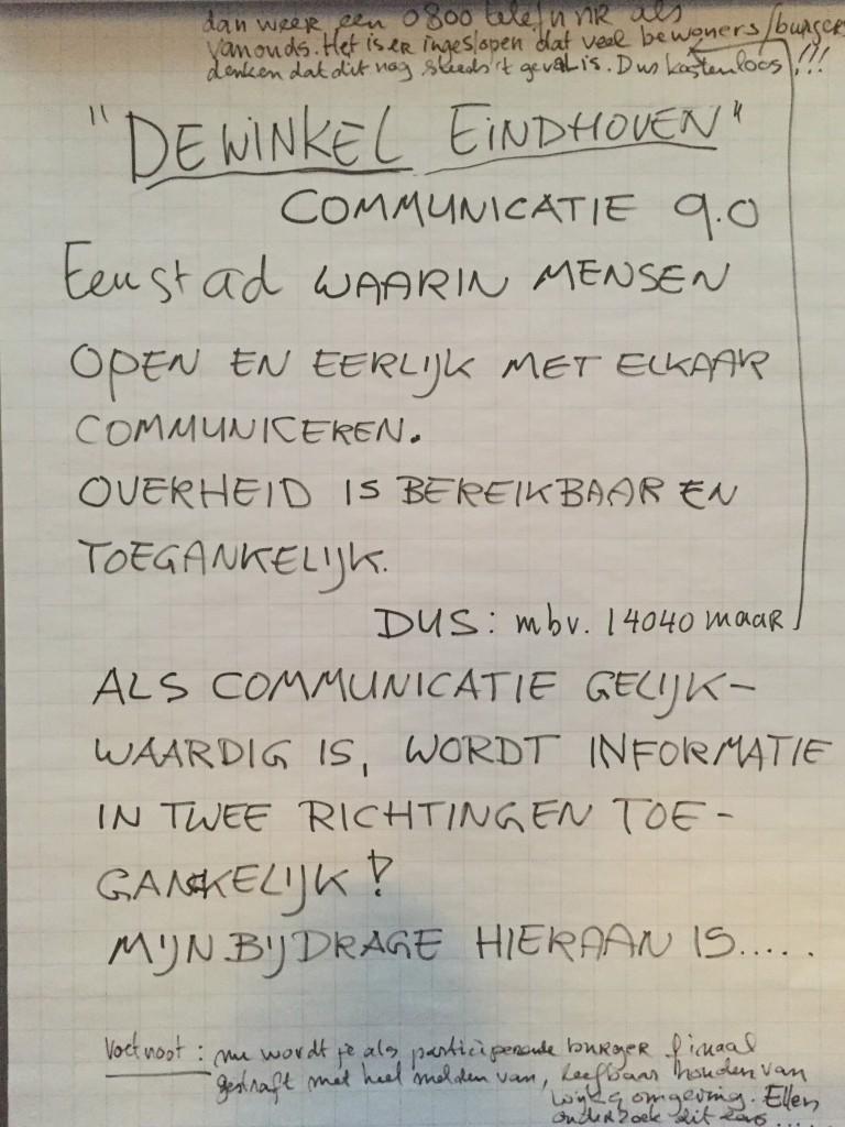 Communicatie - G1000-EindhovenTOP 7 juli 2016